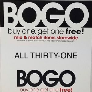 ALL THIRTY-ONE BUY 1, GET 1 FREE!!